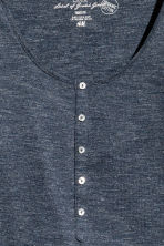 Jersey top with buttons - Dark blue marl - Ladies | H&M CN 3